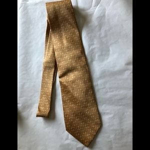 Gucci designer gold G silk tie from Italy 🇮🇹